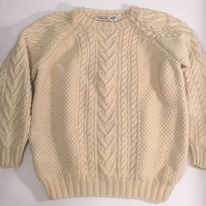Talbots wool Fisherman's Sweater cable knit Irish